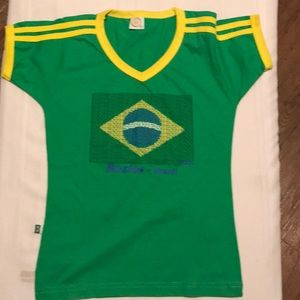 Women's Brazil V-Neck. NWOT.